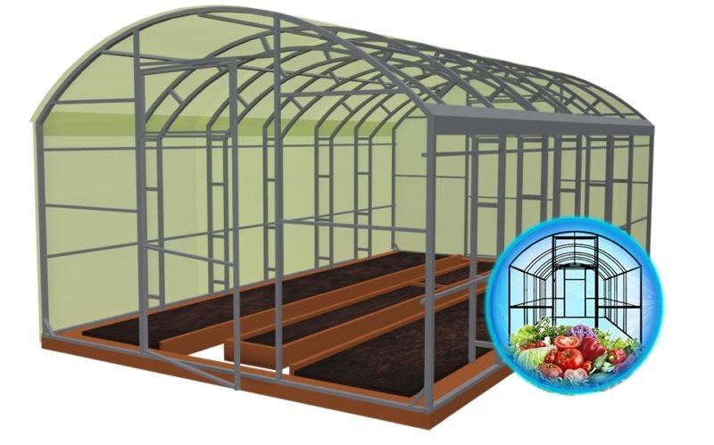 теплица домиком с арочной крышей, теплица поликарбонатная домиком