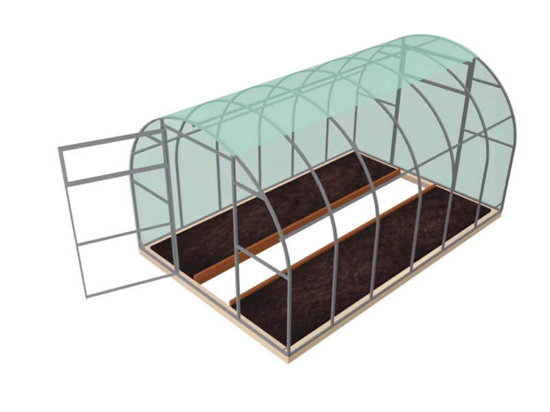 Теплица поликарбонатная ширина 2,5 метра
