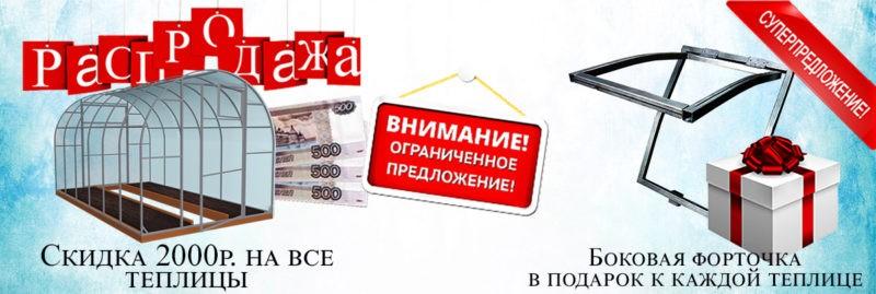 Распродажа Теплиц в Санкт-Петербурге